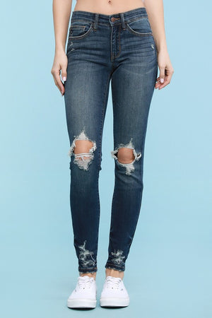 #342 Destroyed Hem Holy Jeans