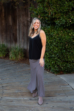 Striped to Perfection Maxi Lounge Set