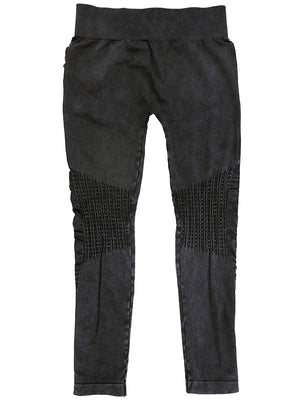 #514 Vintage Knee Shirring Legging (Charcoal)