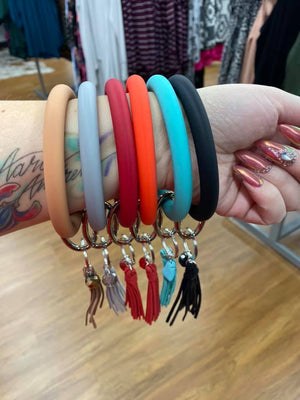 #796 Thick Silicone Key Chain Bracelet