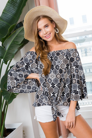 Get Your Groove On Off The Shoulder Top