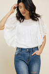 Feminine Flair Eyelet Lace Blouse
