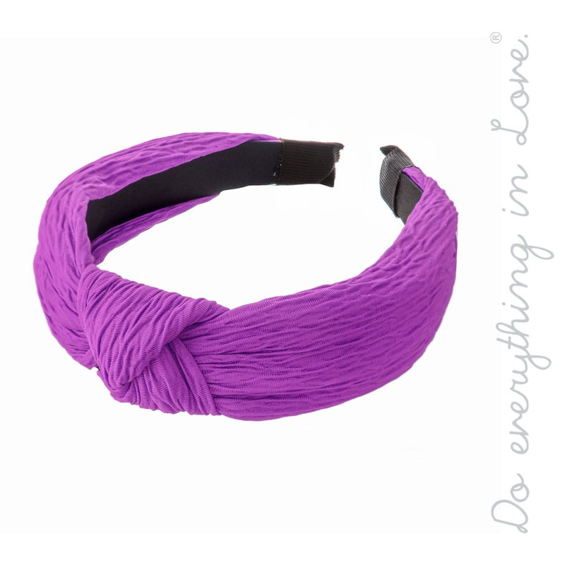 #B41 Purple Knotted Headband
