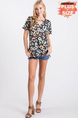 #B90 What a Zoo! Keyhole Top (FINAL SALE)