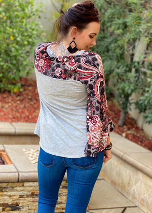 Inspired Paisley Dreams Bell Sleeve
