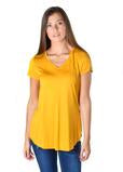 #483 Everyday Essential V-Neck Tee (Mustard)