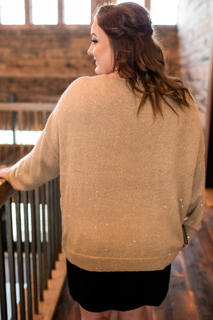 Set On You Golden Shimmer Sweater