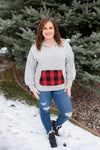 Plaid About You Hoodie In Gray Stripes