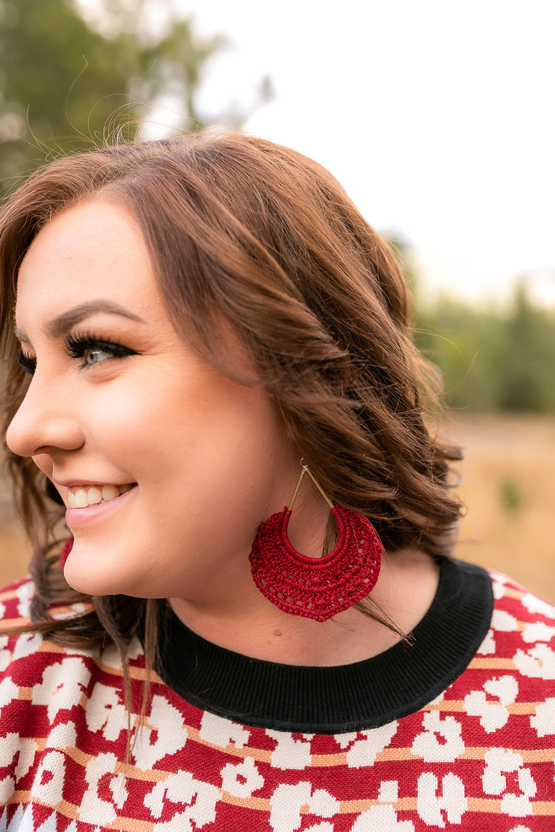 Simply Divine Earrings In Cranberry