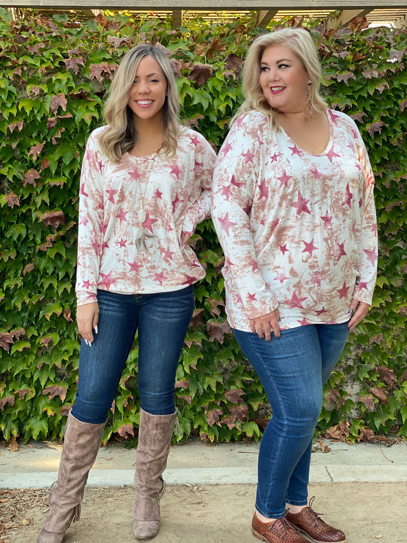 Rustic Star Long Sleeve Top