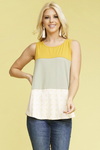 Pineapple Express Color Block Tank