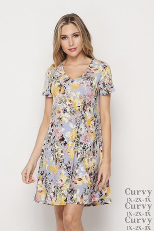 Whimsical Floral Dress