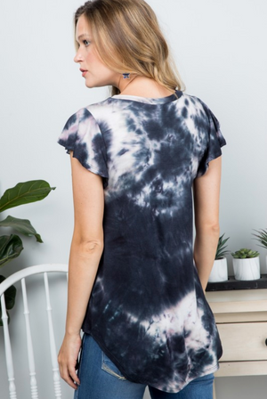 Marvelous Marbled Ruffle Sleeve