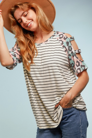 Playful Raglan Cold Shoulder
