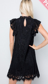 #C131 Swing into the Day Dress (Black)