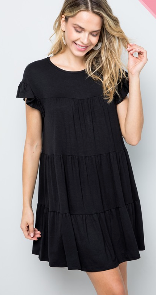 #C149 Swing With The Wind Dress (Black)