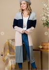 #C23 Claire's Color Block Cardigan