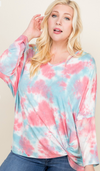 #729 Berry explosion tie-dye top