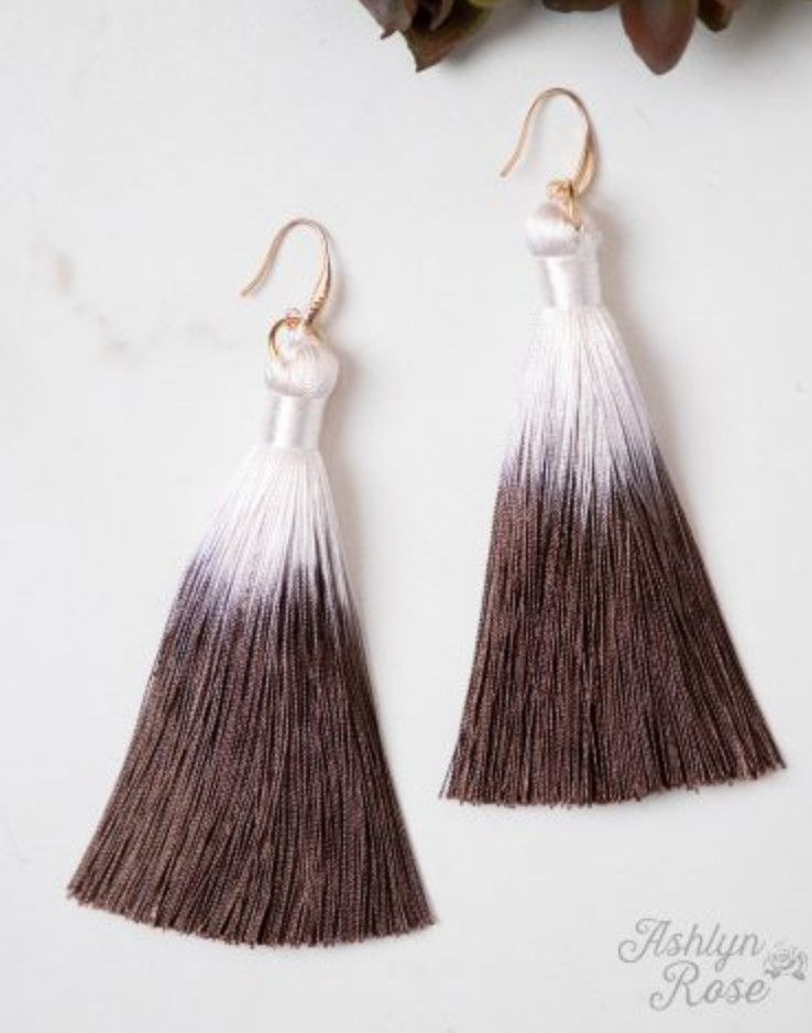 #E14 Light up for life tassel earrings