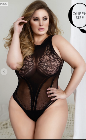 #E89 The Goddess Bodysuit Lingerie (Plus)