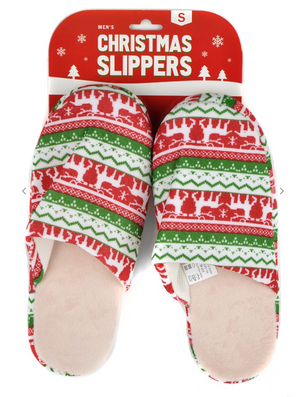#H03 Time For Christmas Slippers