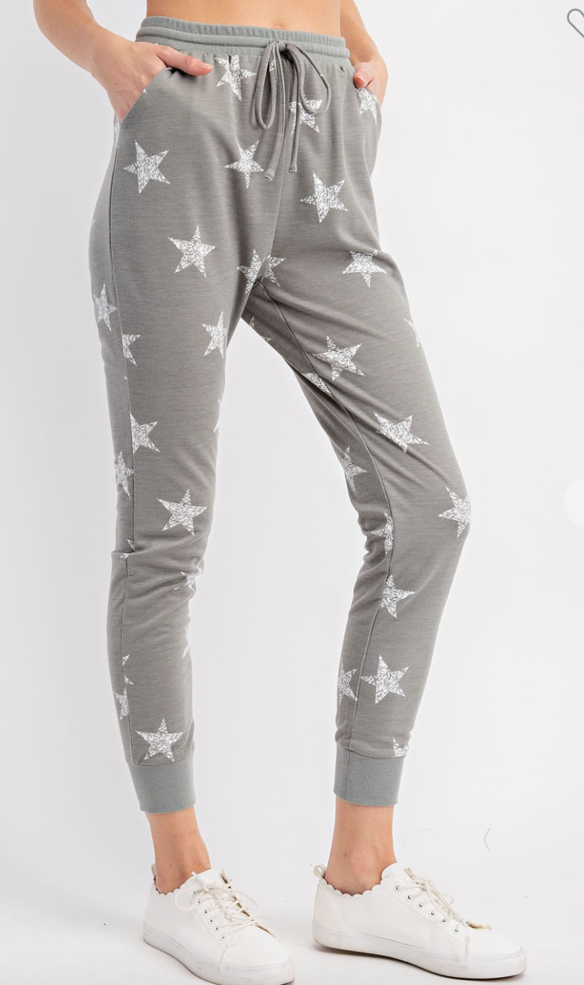 #H203 Zip In To Stars Joggers (Olive)