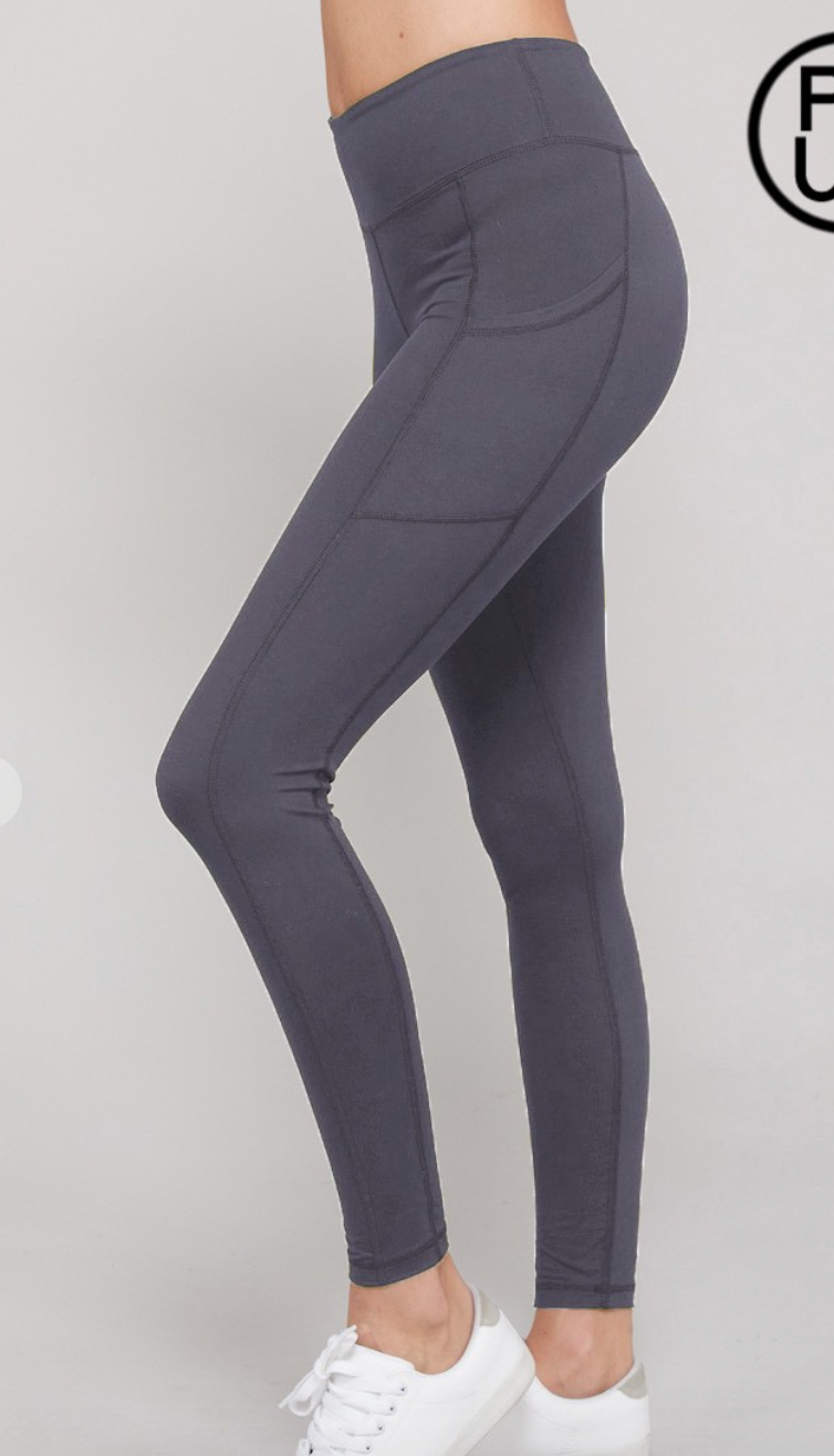 #H217 Titanium Dreams Side Pocket Leggings - 6031