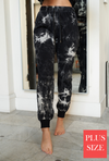 #H678 Marble tie dye fitter jogger