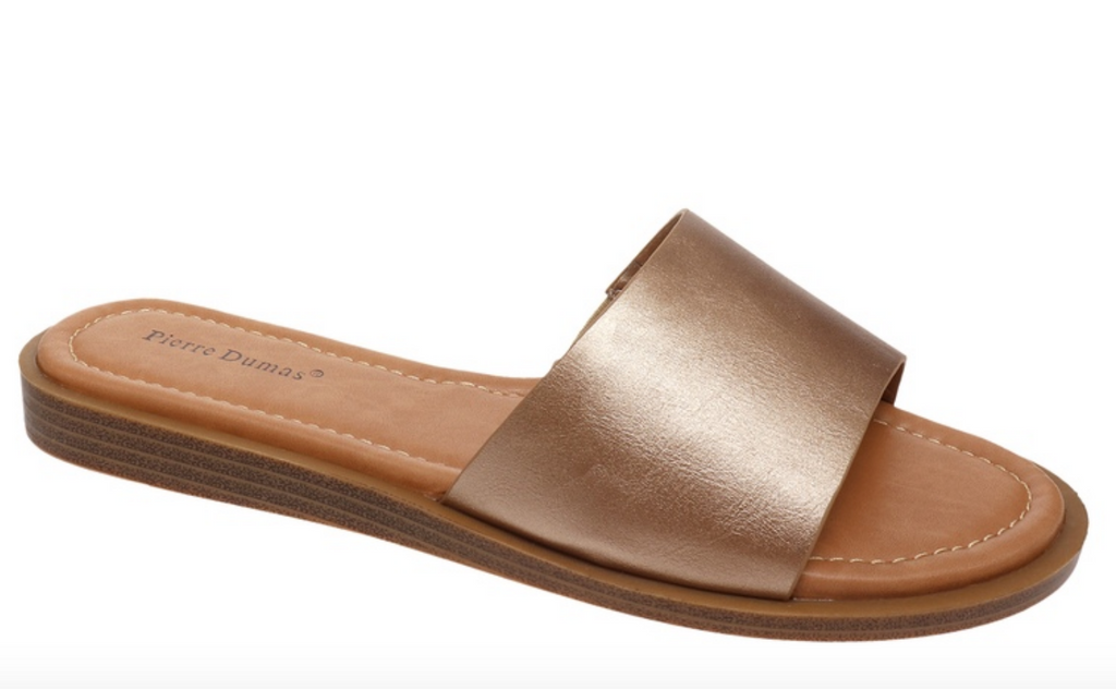 #H691 Simply Chic Slip On Sandals (Rose Gold)