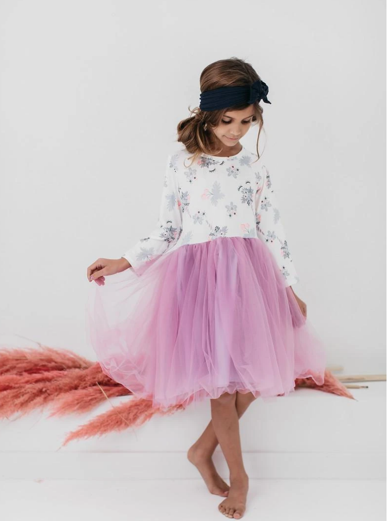 #H765 Unicorn Lilac Tutu Dress