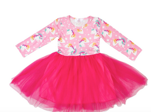 #H767 Rainbow Star Unicorn Tutu Dress