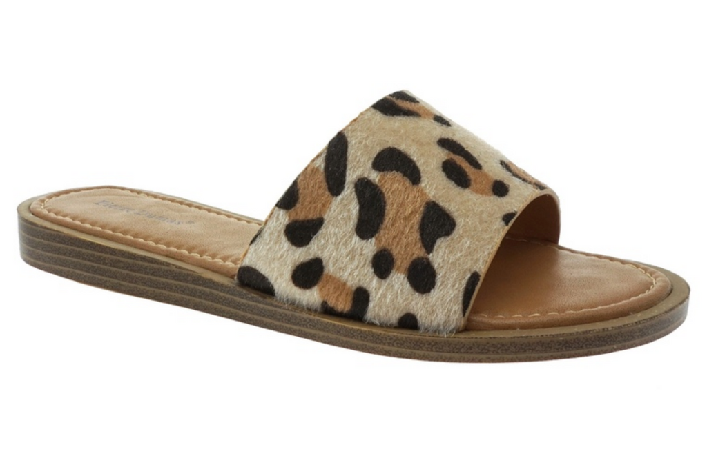 #H790 Simply Chic Slip On Sandals (Leopard)