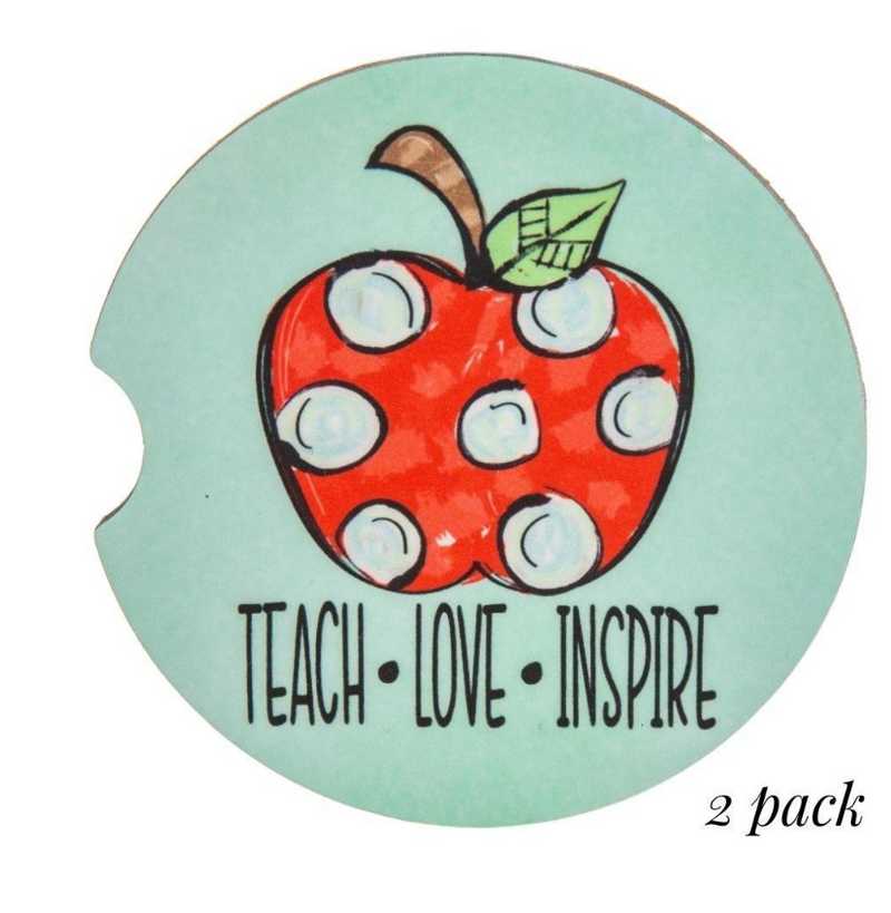 #K87 Teach Love Inspire Car Coasters