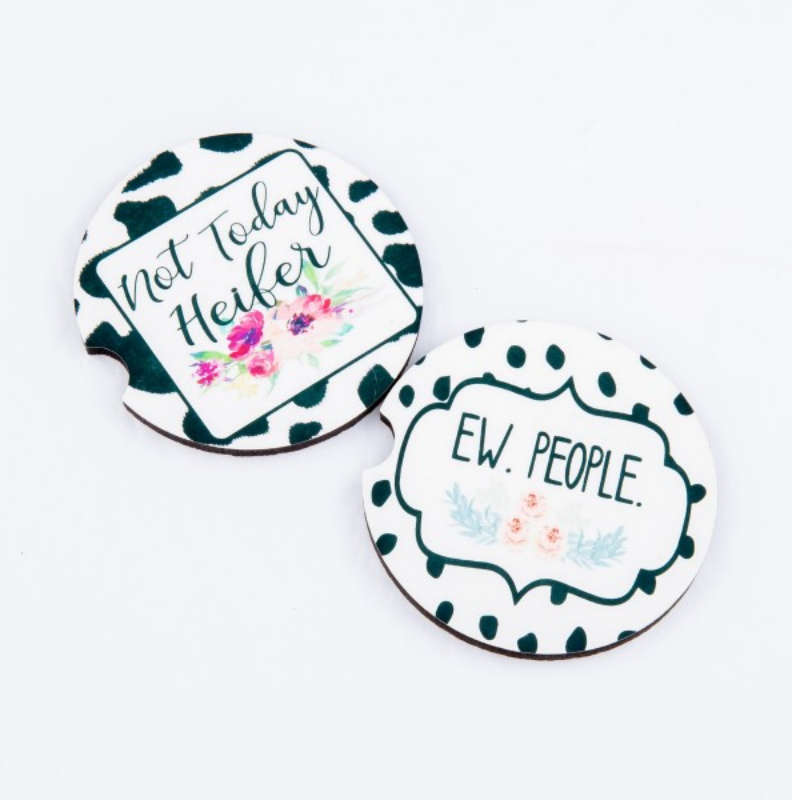 #K88 Ew People Car Coasters