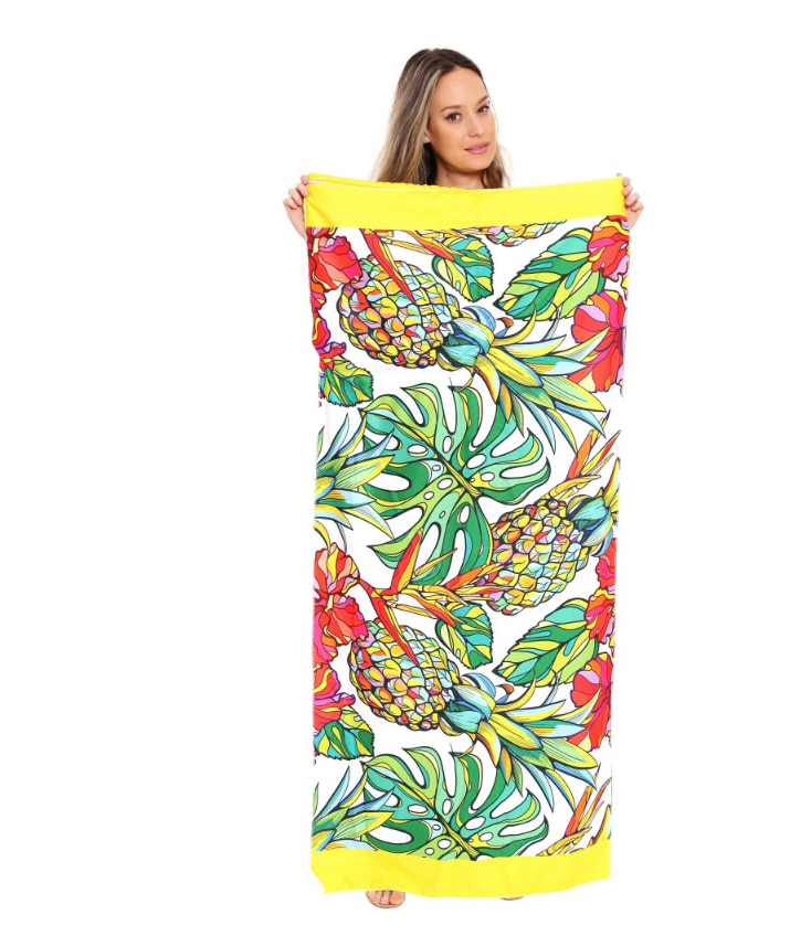 #K92 Tropic Pineapple Convertible Beach Towel