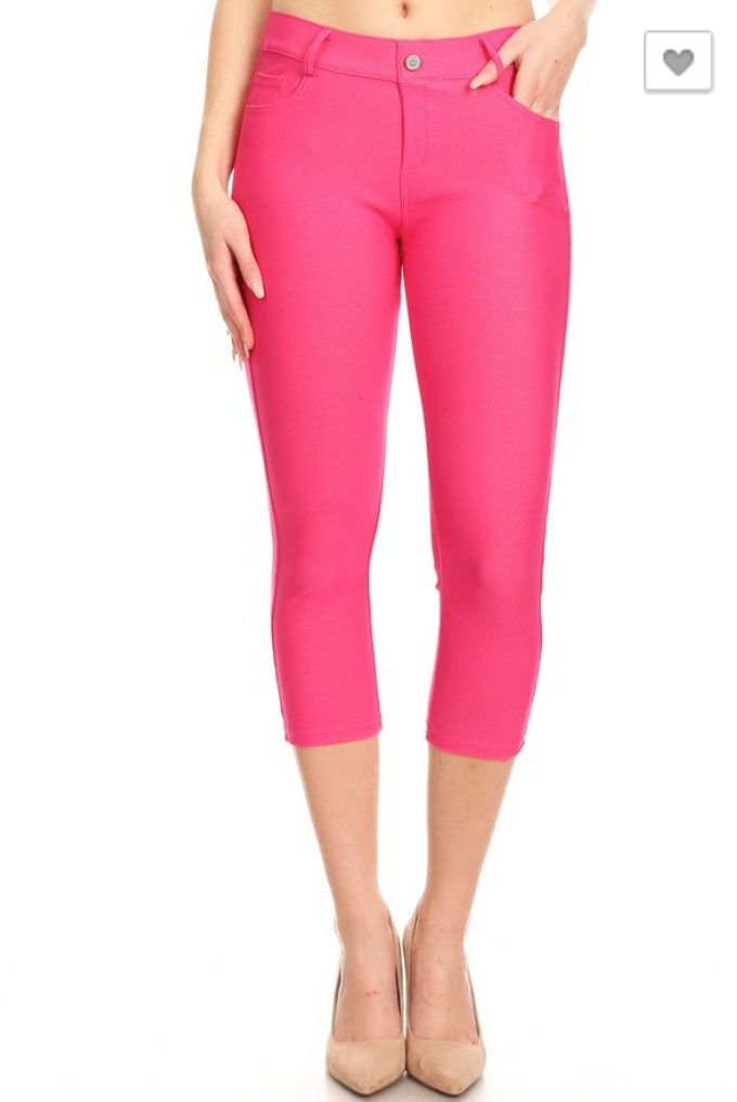#297 Capri Jeggings (Pink)