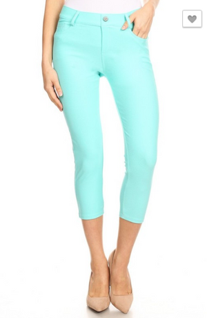 #294 Capri Jeggings (Blue)
