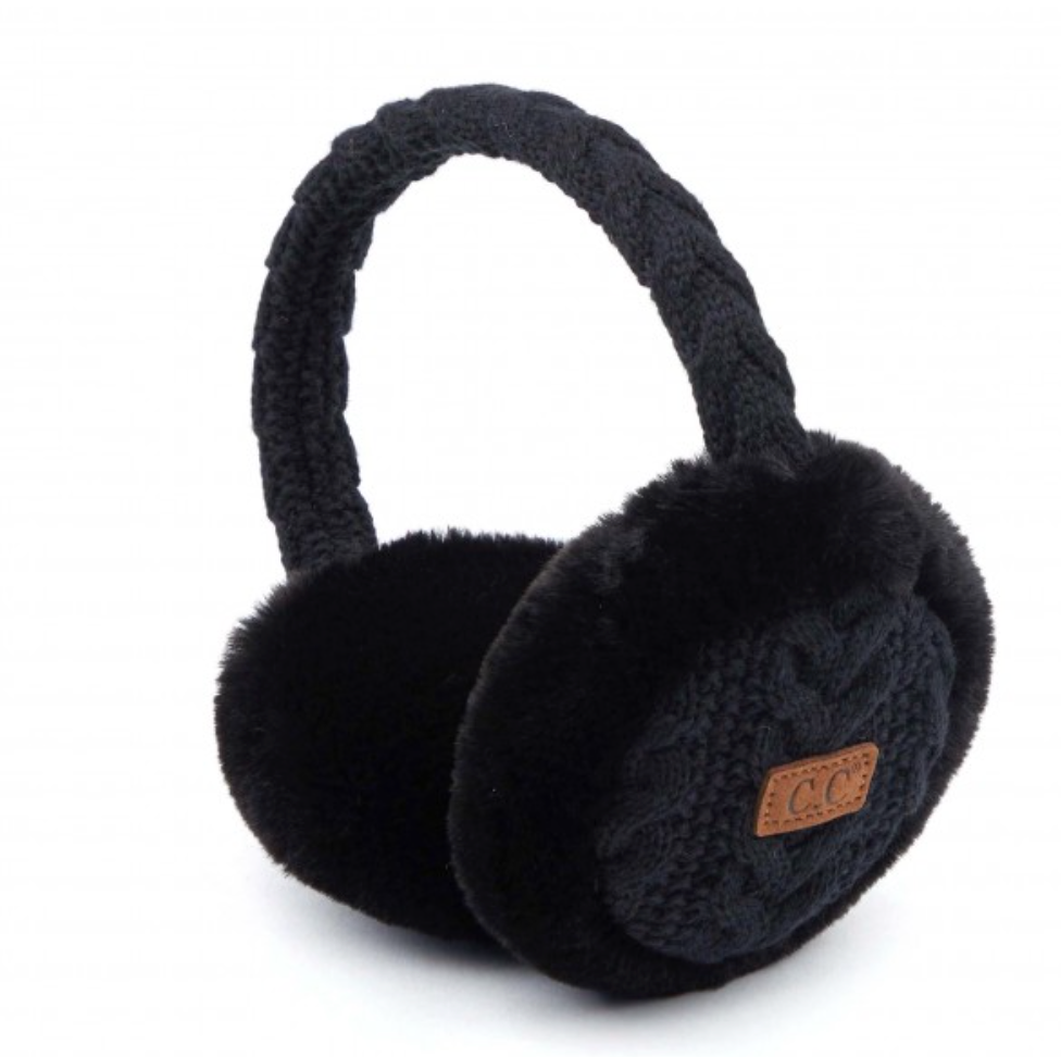 #F37 Cable Knit Adjustable CC Earmuffs