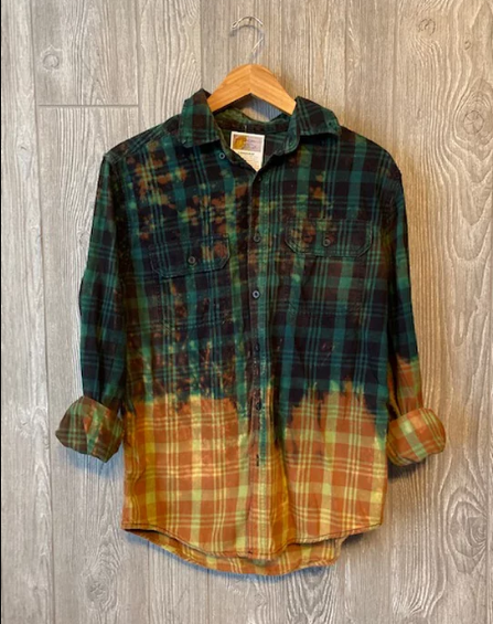 #419 One of a Kind Flannel Tops (Olive)