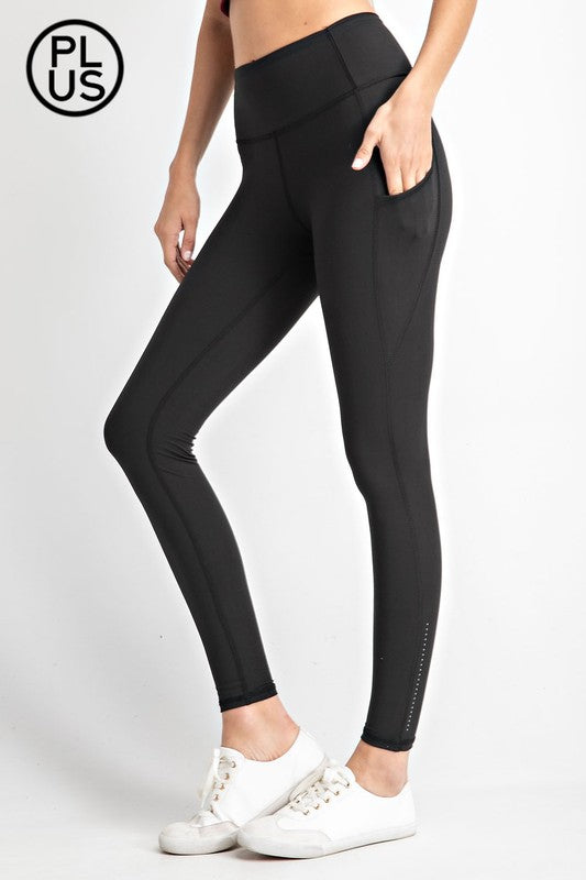 #348 Fluorescent Leggings (Black)