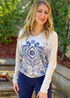 Delft Blue Long Sleeve Top