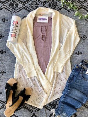 #C73 Light As A Feather Cardigan