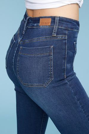 #346 Donna's Patch Pocket Judy Blue Flare Jeans