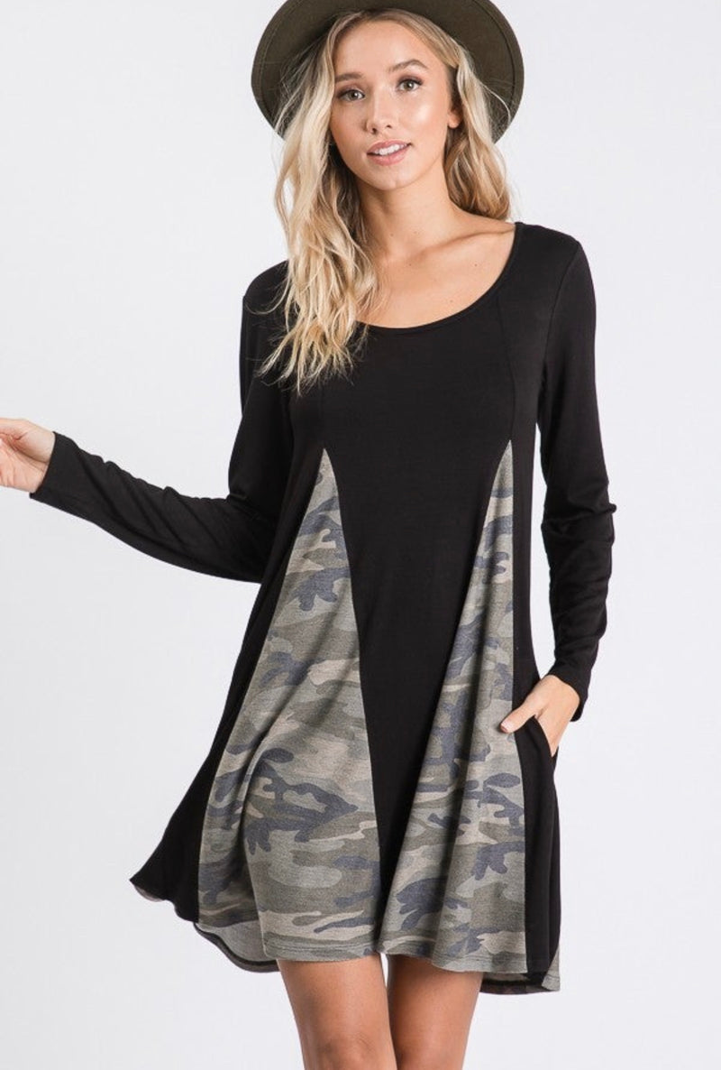 #F3 Dance With Me Camo Dress - FINAL SALE