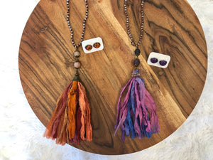Gypsy Tassel Beaded Necklace