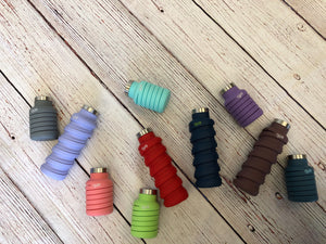#638 Que collapsible water bottles