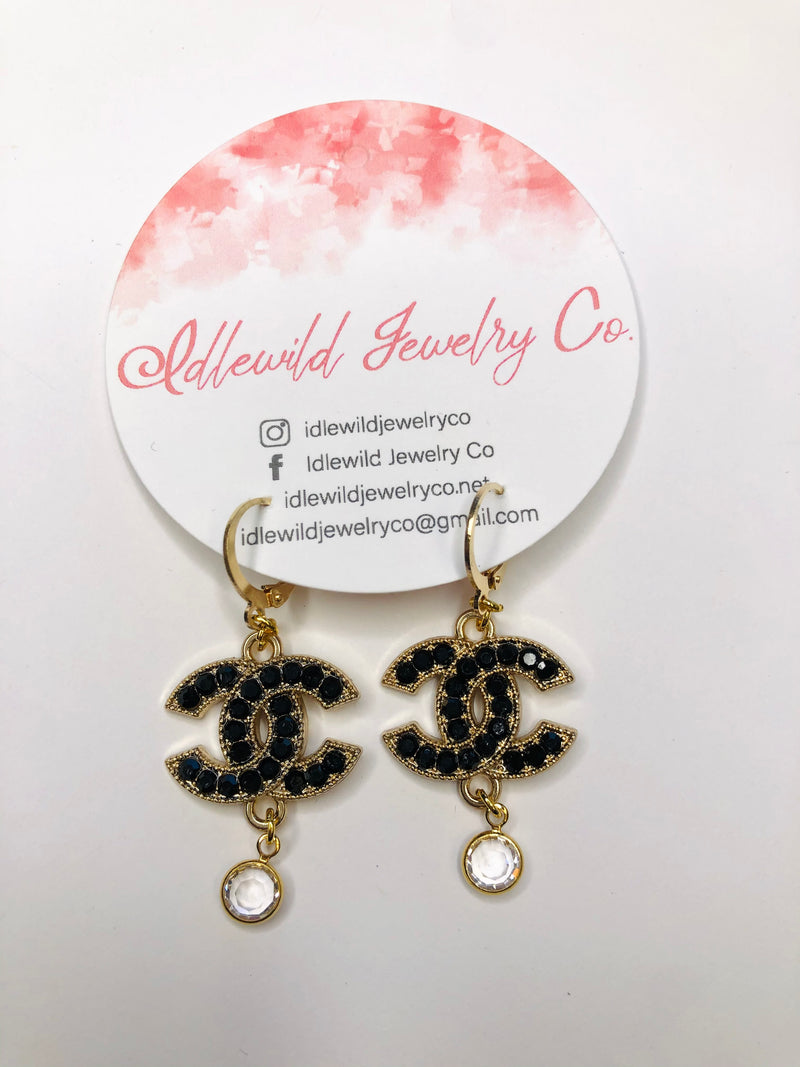 #J94 Julia Vintage CC Dangle Earrings