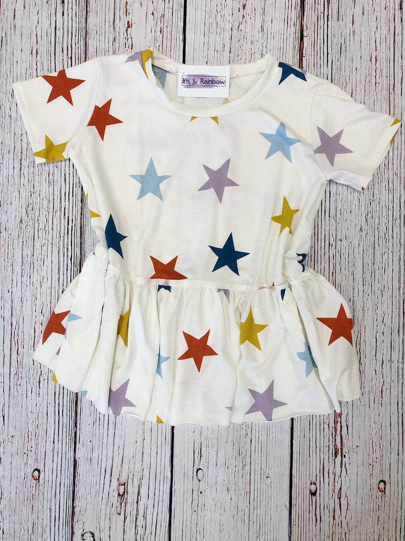 #200 Reach for the stars babydoll top (FINAL SALE)
