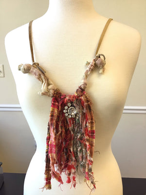 Statement Plaid Tassel Necklace