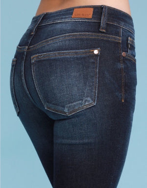 #E80 Everyday Cuffed Dark Wash Judy Blue Jeans (TALL SIZES)